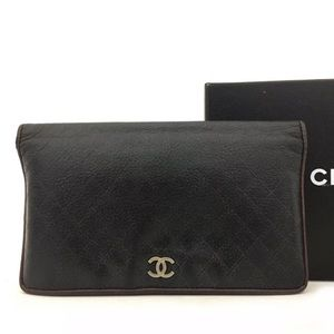 Chanel bicolore quilted matelasse bifold wallet